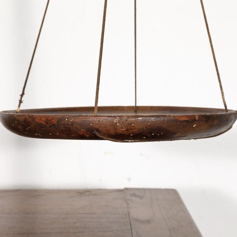 19th Century Primitive French Walnut Balance Scales For Sale 6