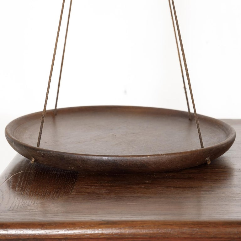 19th Century Primitive French Walnut Balance Scales For Sale 7