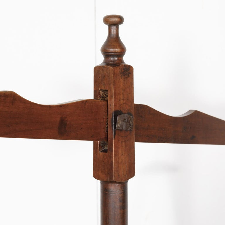 19th Century Primitive French Walnut Balance Scales In Good Condition For Sale In Birmingham, AL