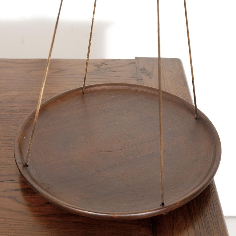 19th Century Primitive French Walnut Balance Scales For Sale 3