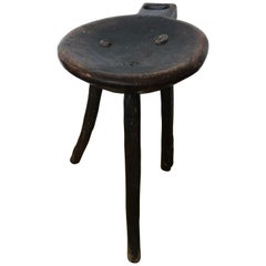 19th Century Primitive Mexican High Milking Stool