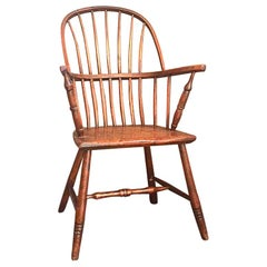 19th Century Primitive Rustic Windsor Armchair