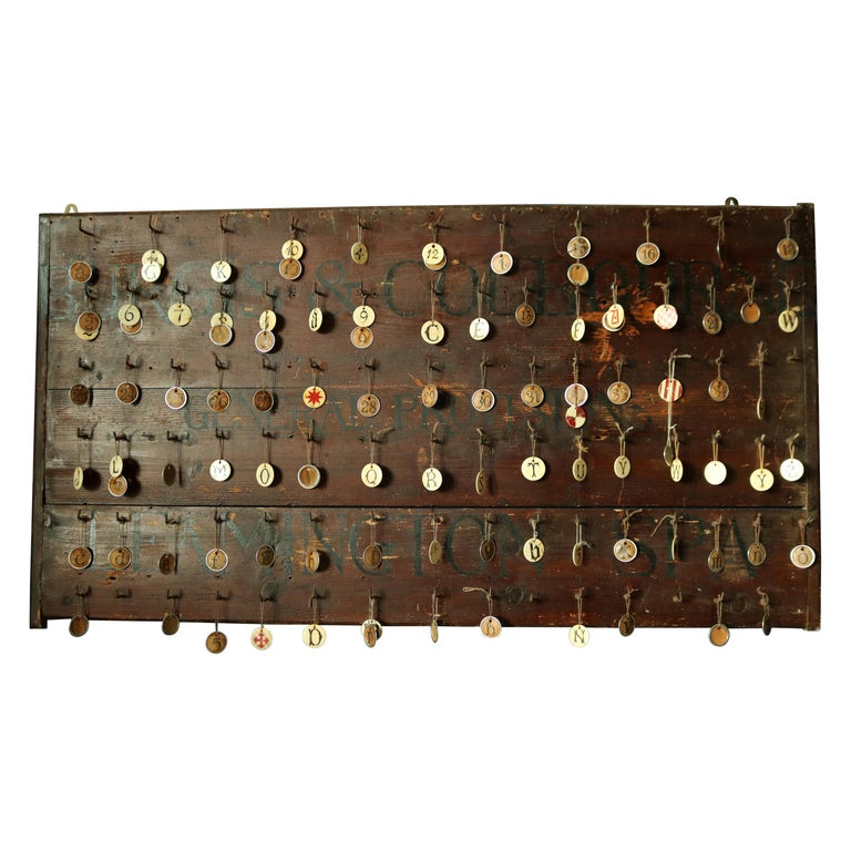 19th Century Primitive Wall Hook Rack For Sale