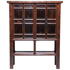 Provincial Chinese Cabinet with Open Shelf, c. 1850