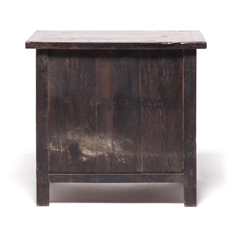 Mid-19th Century 19th Century Provincial Chinese Chest with Leopard Legs For Sale