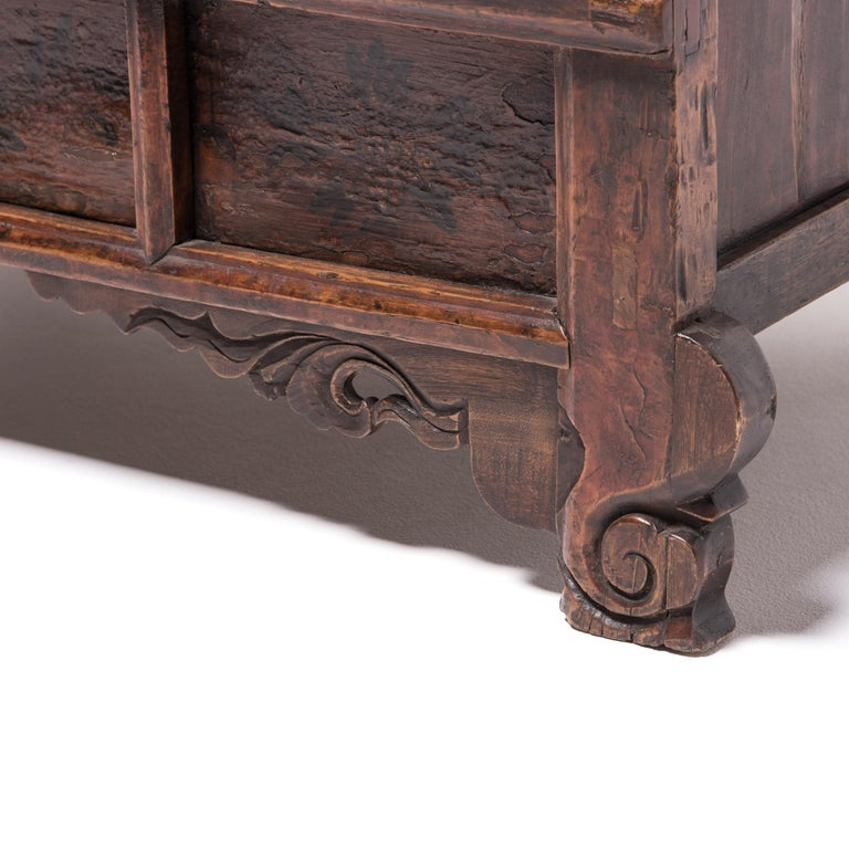 19th Century Provincial Chinese Chest with Leopard Legs For Sale 2