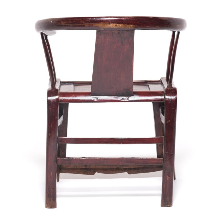 19th Century Provincial Chinese Round Back Chair In Good Condition For Sale In Chicago, IL
