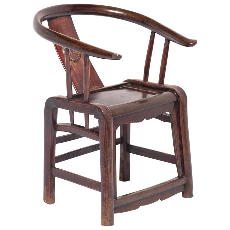 19th Century Provincial Chinese Round Back Chair For Sale