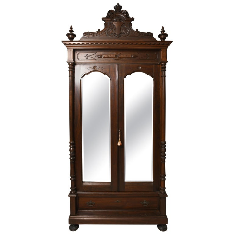 """19th Century Puerto Rican """"Isabelino"""" Style Mahogany Dresser/Armoire For Sale"""