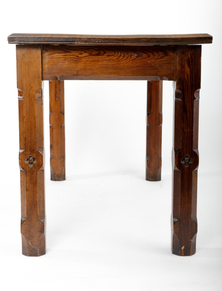 19th Century Pugin Style English Pine Table For Sale 3