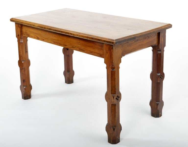19th Century Pugin Style English Pine Table For Sale 5
