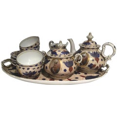 19th Century Qajari Porcelain Bohemian Tea Set