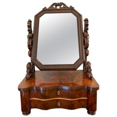 19th Century Quality Antique Victorian Mahogany Swing Mirror