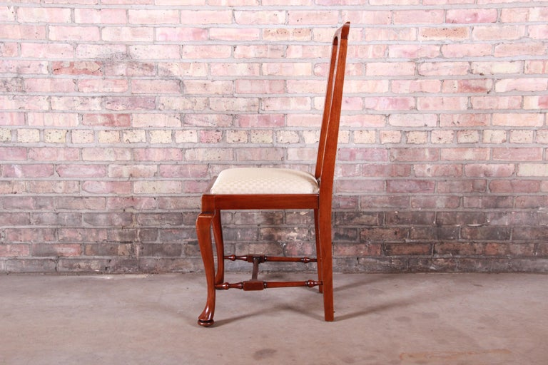19th Century Queen Anne Mahogany Dining Chairs, Set of Six For Sale 8