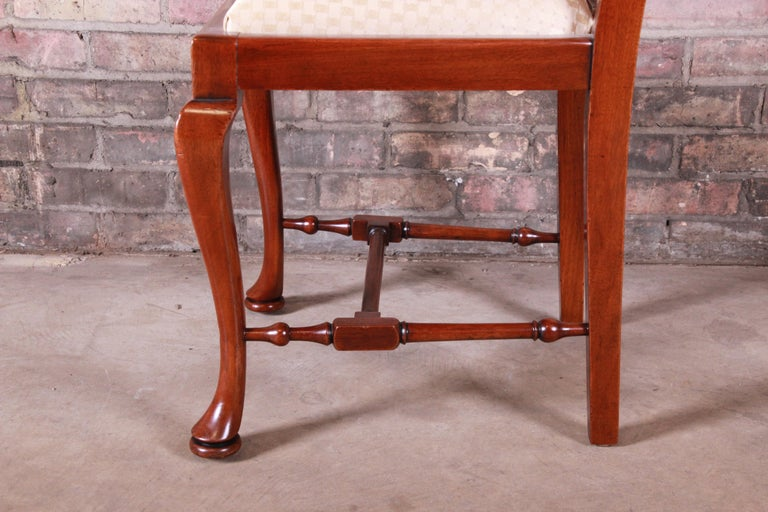 19th Century Queen Anne Mahogany Dining Chairs, Set of Six For Sale 9