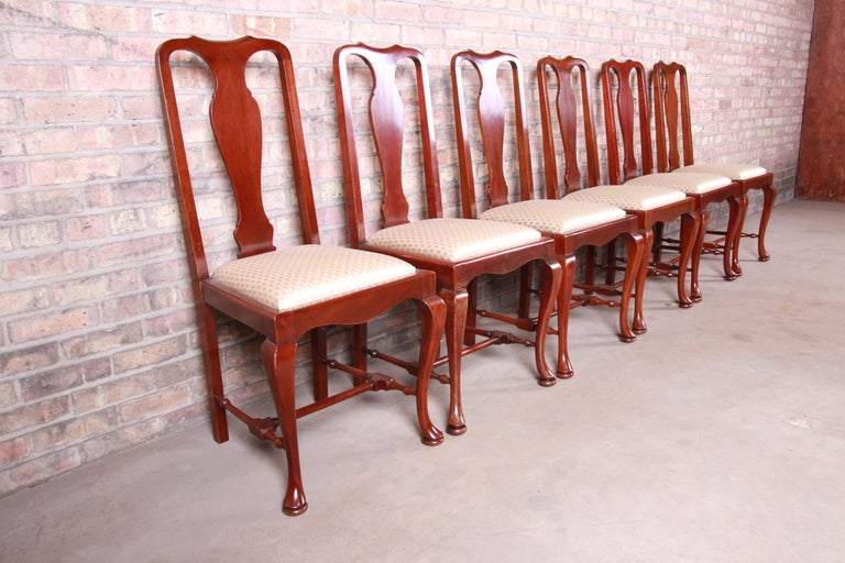 19th Century Queen Anne Mahogany Dining Chairs, Set of Six For Sale 2