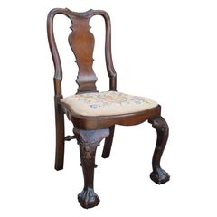19th Century Queen Anne Style Mahogany Side Chair