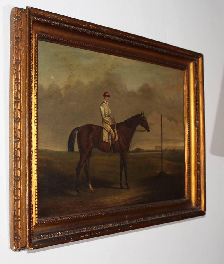 19th century racing jockey oil on canvas painting, firmado por Jhon E. Ferneley y fechado en 1831  John Ferneley (1838) by Henry Johnson John E. Ferneley (18 May 1782 Thrussington, Leicestershire – 1860 Melton Mowbray, Leicestershire), was an