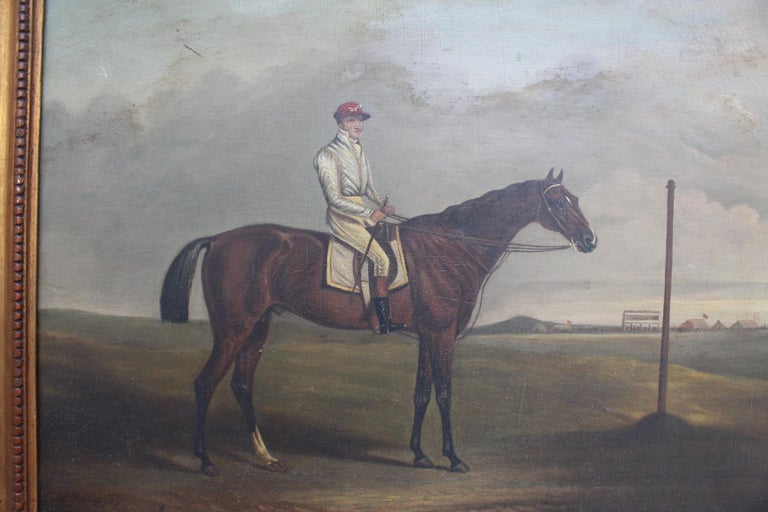 19th Century Racing Jockey Oil on Canvas Painting, Firmado Por Jhon E. Ferneley In Good Condition For Sale In Malaga, ES