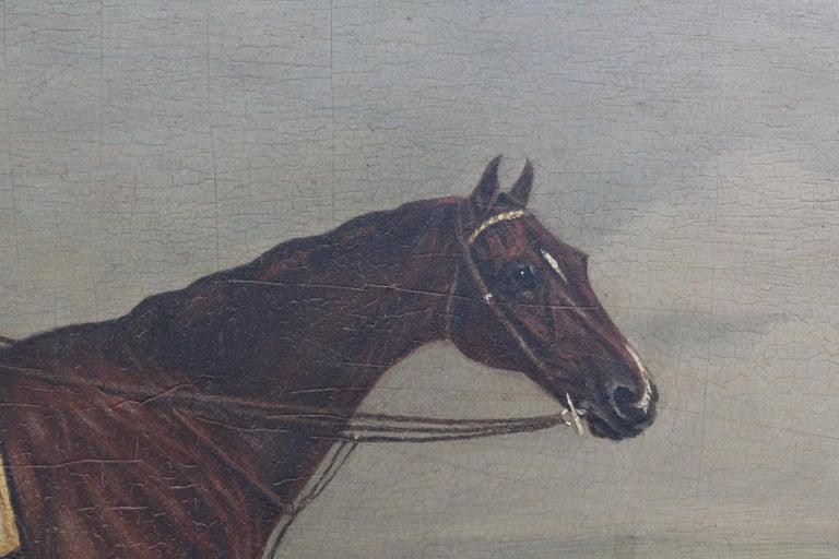 18th Century 19th Century Racing Jockey Oil on Canvas Painting, Firmado Por Jhon E. Ferneley For Sale