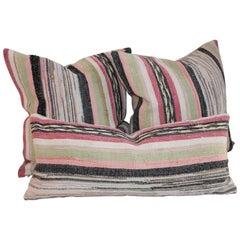 19th Century Rag Rug Pillows