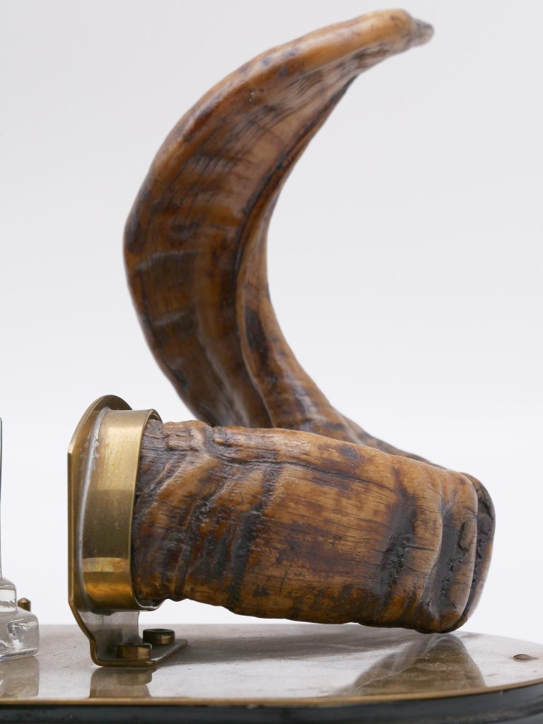 19th Century Ram's Horn Decorated Inkwell, Possibly Scottish For Sale 5