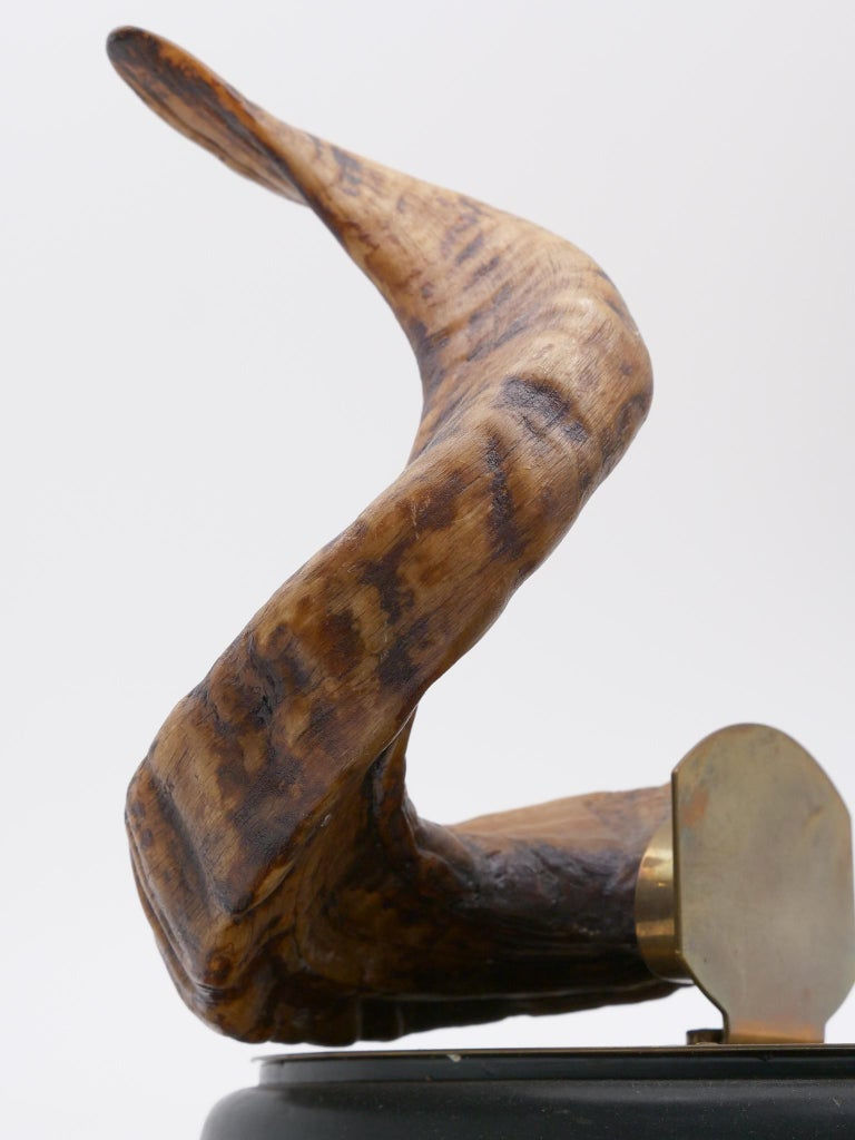 19th Century Ram's Horn Decorated Inkwell, Possibly Scottish For Sale 3