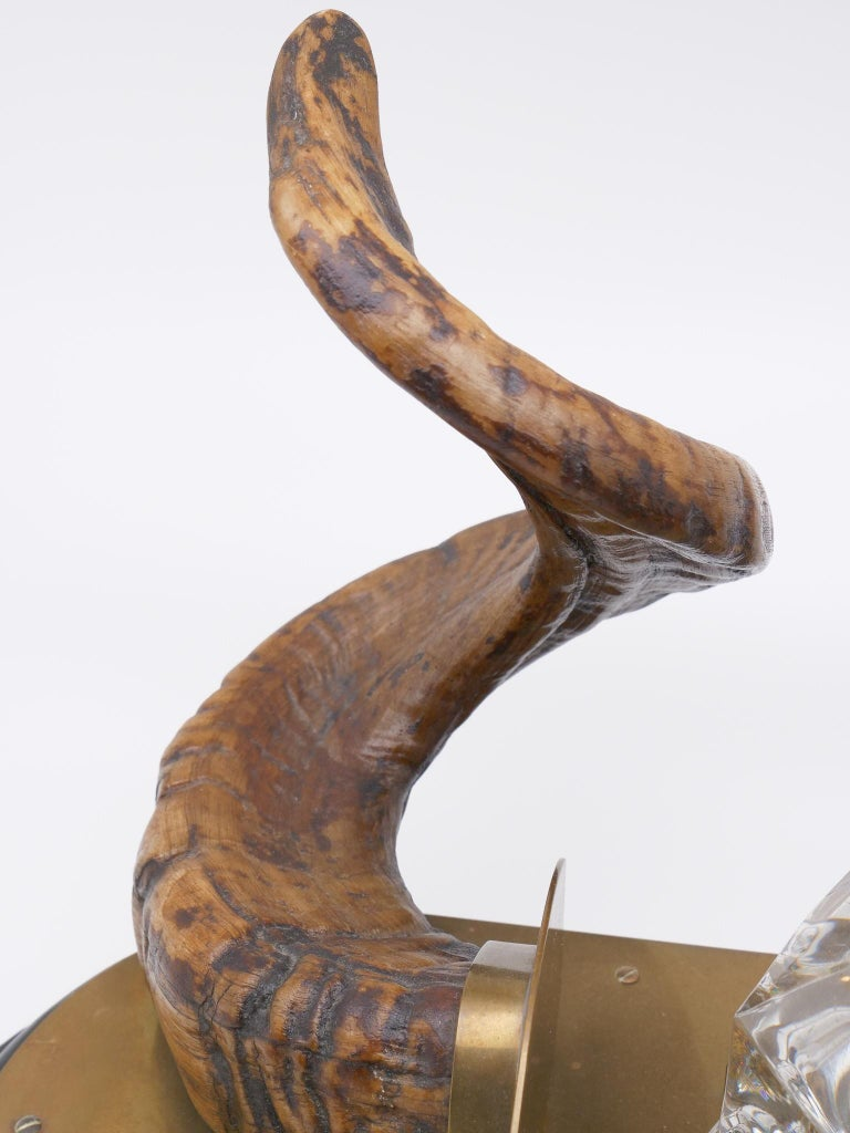 19th Century Ram's Horn Decorated Inkwell, Possibly Scottish For Sale 4
