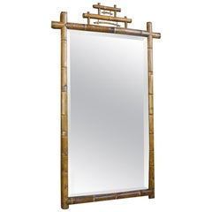 19th Century Real Bamboo Dressing Room Mirror