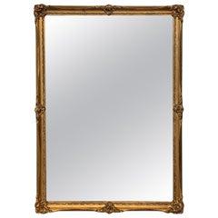 19th Century Rectangular French Napoleon III Giltwood Mirror