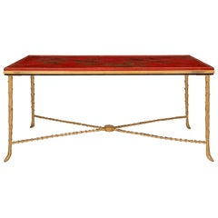19th Century Red Japanese Lacquered Plateau Coffee Table