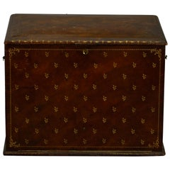 19th Century Red Lacquer Casket