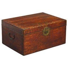 19th Century Red Leather Trunk