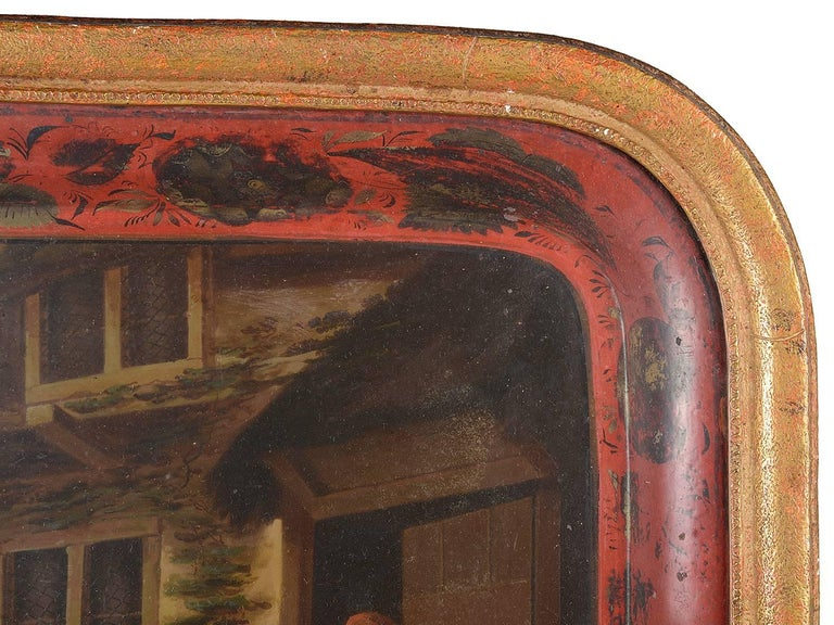 19th Century Red Tole Tray For Sale 1