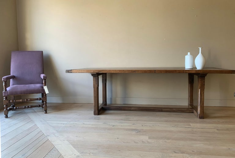 19th Century Refectory Farm Table In Good Condition For Sale In Vosselaar, BE