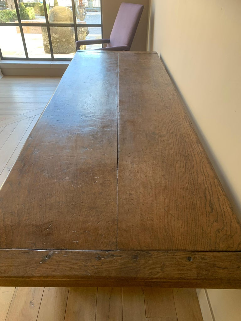 19th Century Refectory Farm Table For Sale 1