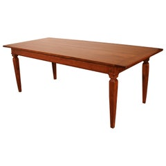 19th Century Refectory Table In Cherry Wood-France