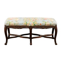 19th Century Regence Style Hand Carved French Bench