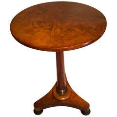 19th Century Regency Amboyna and Padouk Wine Table