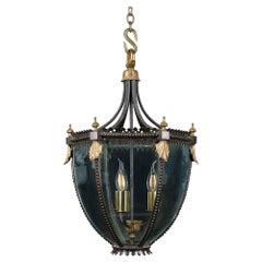 19th Century Regency Bronze Hall Lantern