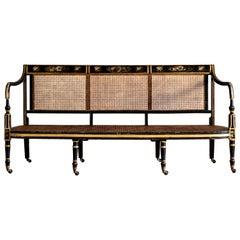 19th Century Regency Caned Sofa
