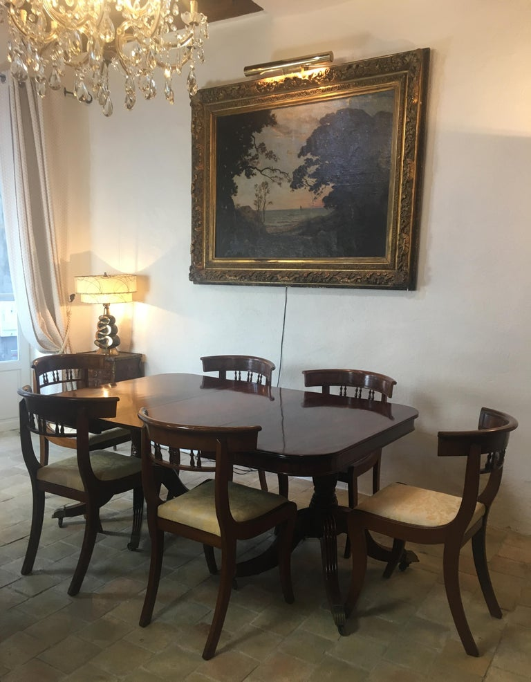 19th Century Regency Flame Mahogany Extending Dining Table For Sale 1