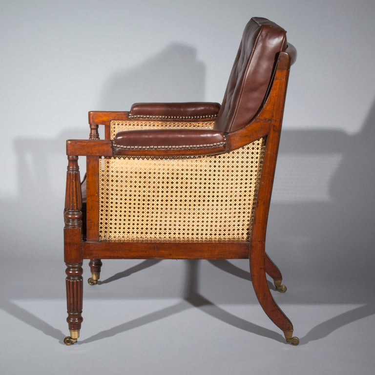 Hand-Carved 19th Century Regency Gillows Desk Armchair For Sale