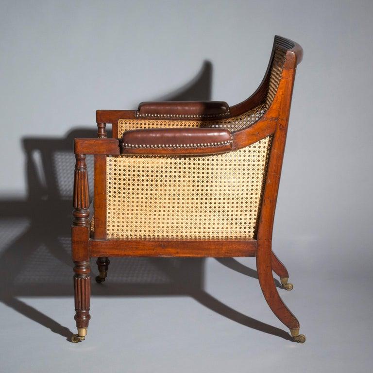 19th Century Regency Gillows Desk Armchair For Sale 3