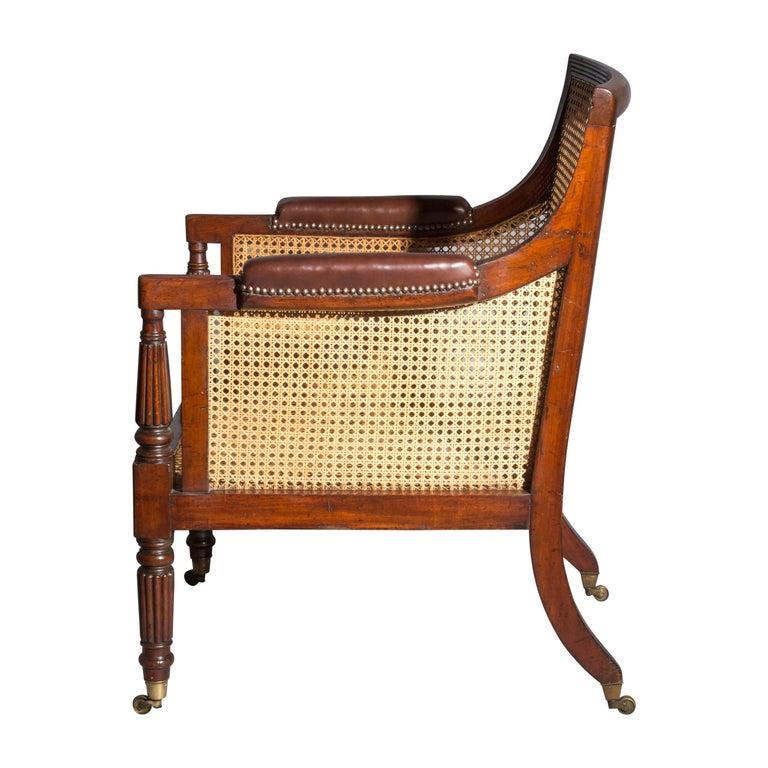 19th Century Regency Gillows Desk Armchair For Sale