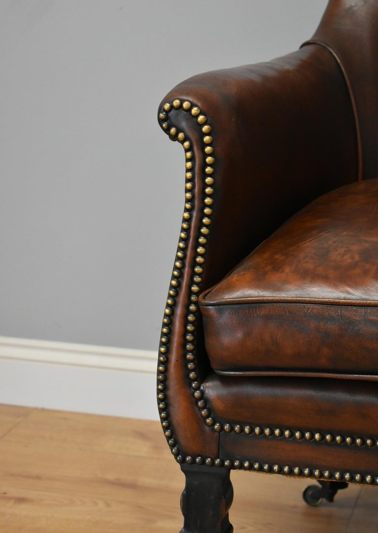 19th Century Regency Leather Armchair For Sale at 1stdibs