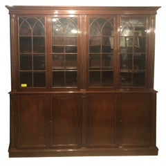19th Century Regency Mahogany Bookcase, 1820s