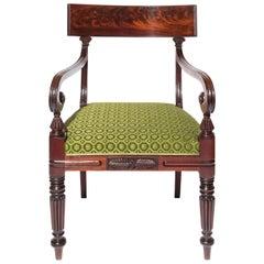19th Century Regency Mahogany Desk Armchair