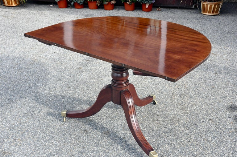 19th Century Regency Mahogany Four Pedestal Dining Table For Sale 6