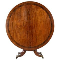 19th Century Regency Mahogany Large Circular Centre Table
